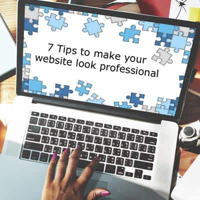 7 Tips to make your website look professional
